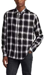 Simon Miller Men's Chase Plaid Shirt - Black