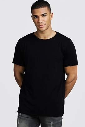 boohoo Slub T-Shirt With Raw Edge