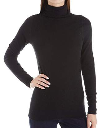 Three Dots Women's QQ2482 Brushed Sweater Turtleneck