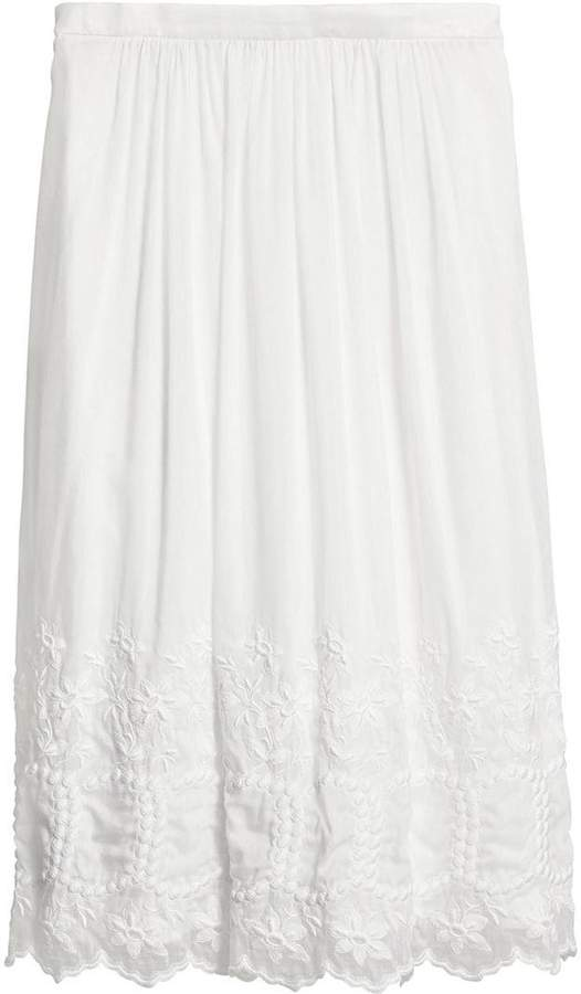 Burberry embroidered voile skirt