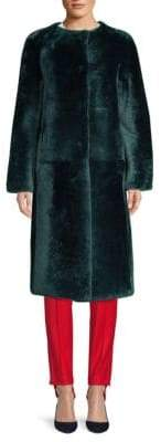 Anne Vest Anne Vest Women's Maya Long Shearling Coat - Green - Size 42 (10)
