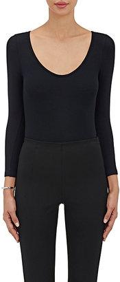 ATM Anthony Thomas Melillo Women's Rib-Knit Long-Sleeve Bodysuit $195 thestylecure.com