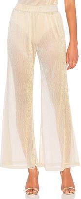 MAJORELLE Celina Pant in Metallic Bronze $158 thestylecure.com