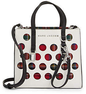 Marc Jacobs The Perforated Tartan Mini Grind Bag