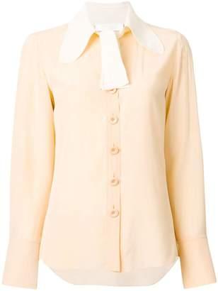 Chloé contrast collar blouse