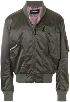 Dolce & Gabbana patch bomber jacket