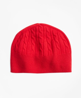Brooks Brothers Cable-Knit Cashmere Hat