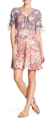 Angie V-Neck Short Sleeve Print Dress