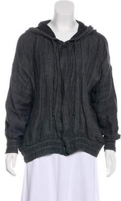 eskandar Hooded Linen Jacket