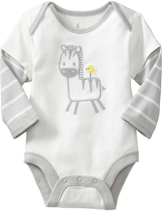 Old Navy Graphic 2-in-1 Bodysuits for Baby