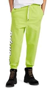 Stampd Men's Logo Cotton Fleece Drawstring Jogger Pants - Yellow