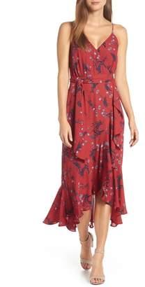 J.Crew Floral Drapey Ruffle Faux Wrap Dress