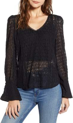 Hinge Allover Lace Top
