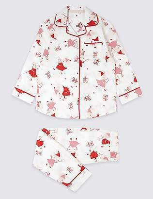 Marks and Spencer Pure Cotton All Over Print Pyjamas (1-7 Years)