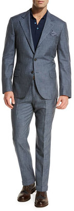 Brunello Cucinelli Wool-Blend Textured Two-Piece Suit $3,495 thestylecure.com
