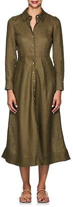 Barneys New York Women's Linen Maxi Shirtdress