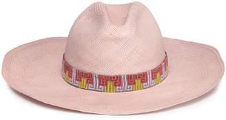 019a2e6b Yosuzi Bead-embellished Woven Straw Hat