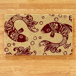Red Koi Doormat 18x30