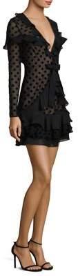 For Love & Lemons Dotty Ruffled Mini Dress