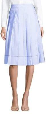 Piazza Sempione Stripe Pleated A-Line Skirt