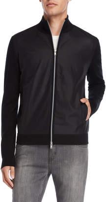 American Designer Black Mixed Media Jacket