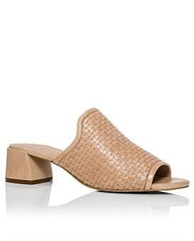David Jones Orla Leather Woven Block Heel