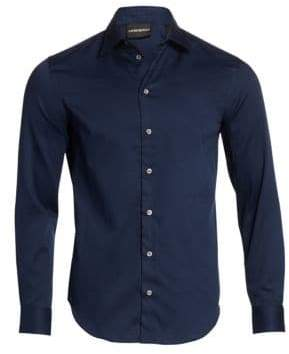 Emporio Armani Regular-Fit Solid Dress Shirt