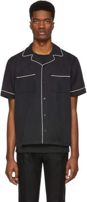 Saturdays NYC Black Solid Cameron Short Sleeve Shirt