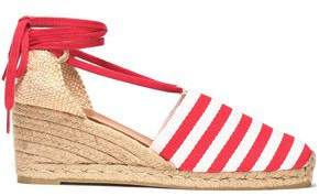 Castaner Woven And Striped Canvas Wedge Espadrilles