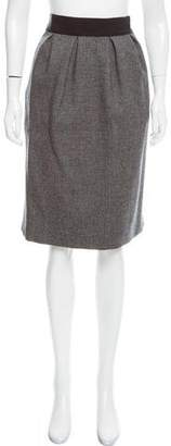Valentino Tweed Knee-Length Skirt
