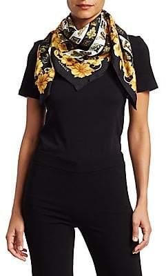 Versace Women's Floral Silk Scarf