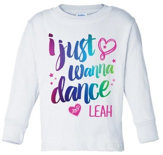 Jo-Jo JoJo Siwa I Just Wanna Dance White Long Sleeve Youth T-Shirt
