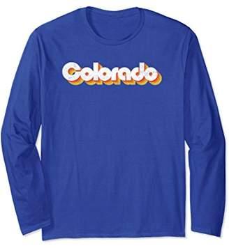 Retro Vibe Colorado Typography 60's/70's Long Sleeve Shirt