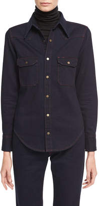Calvin Klein Slim Denim Western Shirt