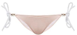 Heidi Klein San Marino Rope Side Tie Bikini Briefs - Womens - Pink