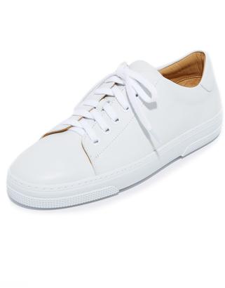 A.P.C. Steffi Tennis Sneakers $355 thestylecure.com