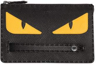 Fendi Monster Textured Leather Pouch