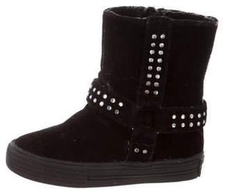 Stuart Weitzman Girls' Embellished Suede Boots