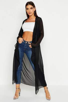 boohoo Chiffon Waterfall Front Jacket