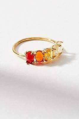 Anthropologie Ombre Birthstone Ring