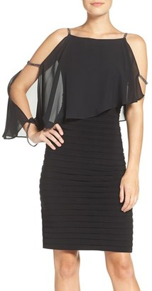 Women's Adrianna Papell Embellished Cold Shoulder Jersey Sheath Dress $160 thestylecure.com