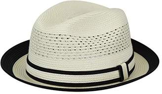 Country Gentleman Men's Noah Vented Fedora Hat Two Tone Brim