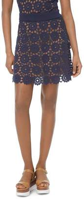 MICHAEL Michael Kors Medallion-Pattern Lace Mini Skirt