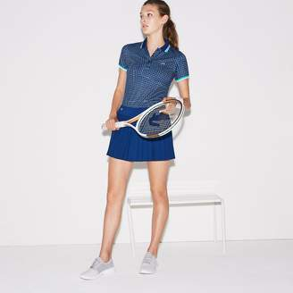 Lacoste Women's SPORT Tennis Technical Mesh Pleated Skirt
