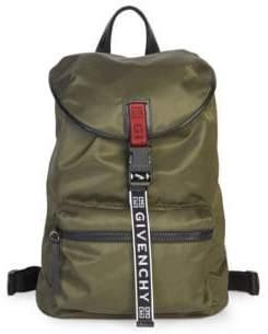 Givenchy Logo Strap Nylon Backpack