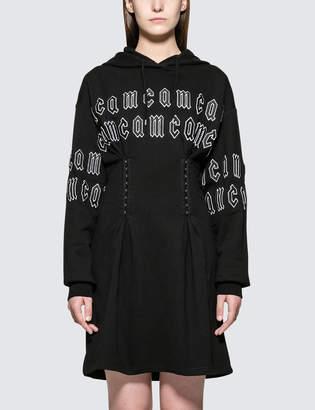 McQ Corset Hoodie Dress