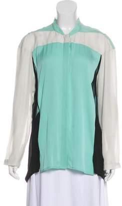 Ohne Titel Silk Long Sleeve Top