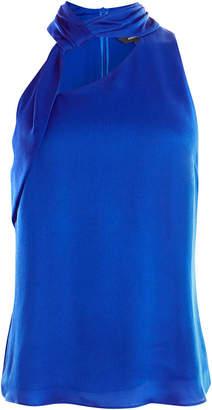 Karen Millen Asymmetric Halterneck Top