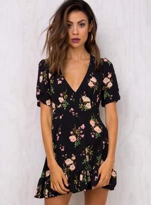 Dark Blooms Mini Dress