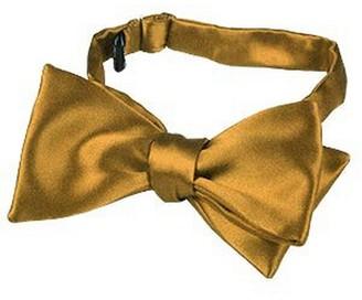 Forzieri Ocher Yellow Solid Silk Self-tie Bowtie